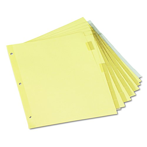 Universal 21873 Economical Insertable Index, Clear Tabs, 8-Tab, Letter, Buff, Pack of 6 Sets