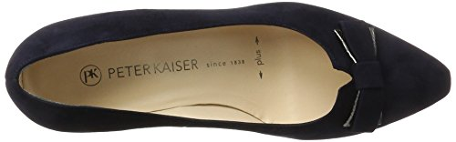 UK 8 Black Heels Toe Women's 983 Closed Carbon Kaiser Peter Birthe Suede Blue Navy Dala 8q0pH