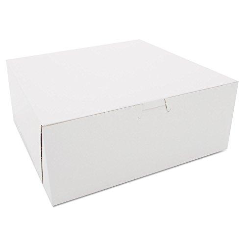 Price comparison product image Bakery Boxes, White, Kraft, 10W x 10D x 4H