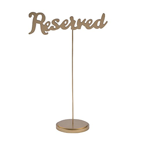 Gold Calligraphy Reserved Table Signs (set of 6)