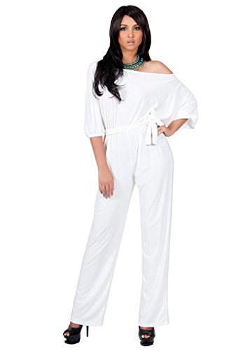 u-wardrobe-womens-sleeveless-drawstring-off-shoulder-long-pants-jumpsuit-romper-white-m