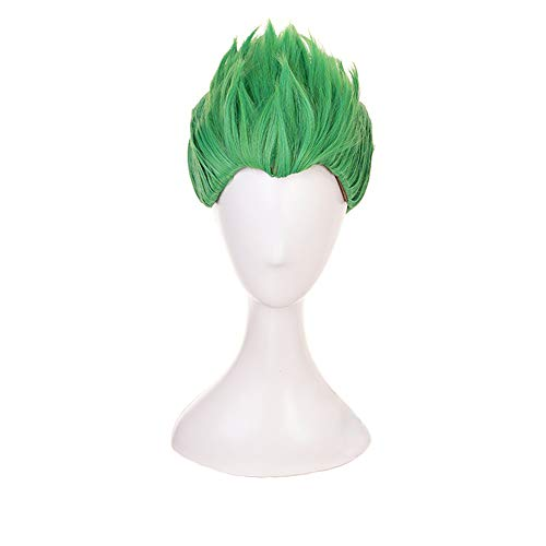 Man's Short Green Special Shape Green Cosplay Wig Halloween Wig for Gme ()