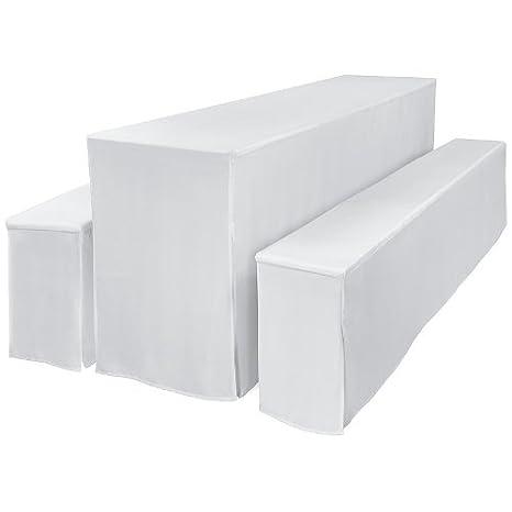 Beautissu Set da 3 Fodere Imbottite Comfort L per panche e tavoli (50cm) da birreria Picnic Catering - Arancione