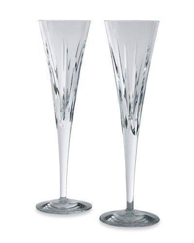 Miller Rogaska Reed & Barton Soho Crystal Flutes, Pair