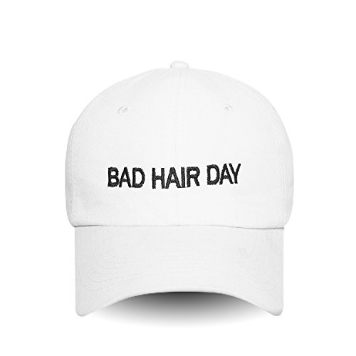 Day Womens Cap (Bad Hair Day Embroidered Dad Hat 100% Cotton Baseball Cap For Men And Women)
