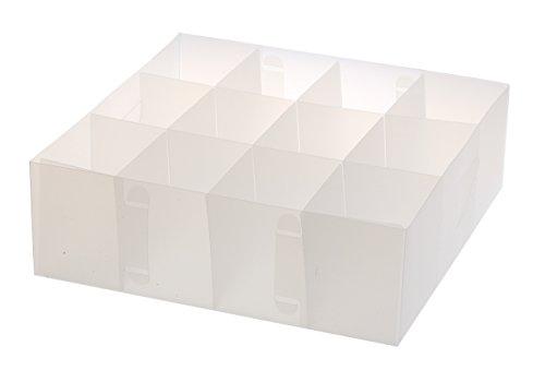 YBM HOME Closet Drawer Organizer for Underwear, Socks, Bras, Ties, Scarves - 12 Section Storage Box Divider Keeps Clothes Organized