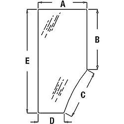 R131163 New LH Door Glass For John Deere 7200 7210