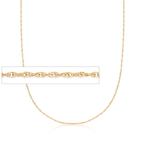 Ross-Simons Italian 1mm 14kt Yellow Gold Rope Chain Necklace (Gold 14kt Rope Necklace)