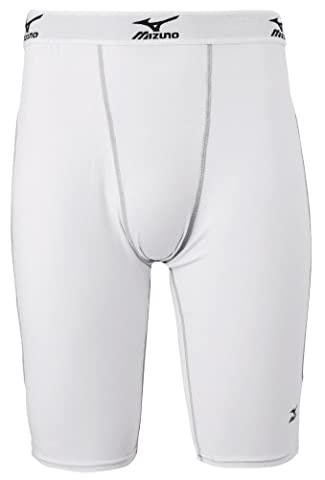 Mizuno Youth Padded Sliding Short with Cup G2 (White/Grey, Large)