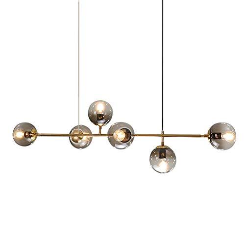 Sputnik kroonluchter, vintage hanglamp, metaal, E27, messing, goud, in hoogte verstelbaar, voor woonkamer, slaapkamer…