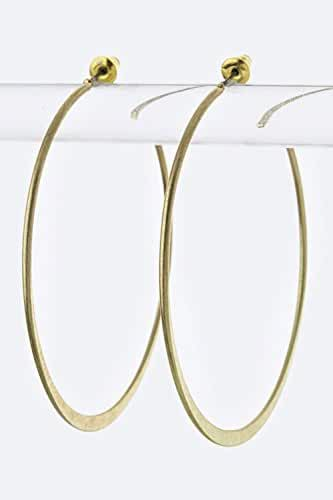 Trendy Fashion Jewelry Skinny Metal Hoop Earrings By Fashion Destination