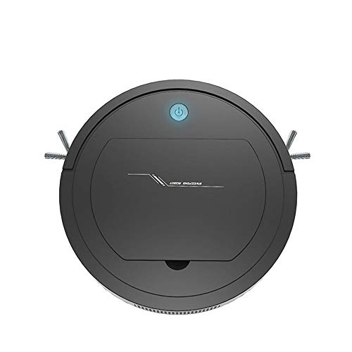 3-in-1 Automatic Smart Sweeper/Vacuum/Mop, Rechargeable Automatic Smart Robot Vacuum Cleaner Edge Cleaning Suction Sweeper for Pet Hair, Carpets&Hard Floors (Black)