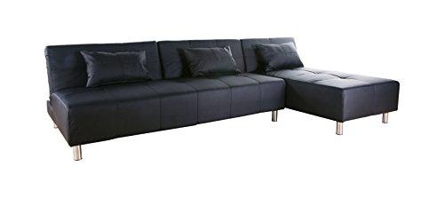 Gold Sparrow Atlanta Convertible Sectional Sofa Bed, Black