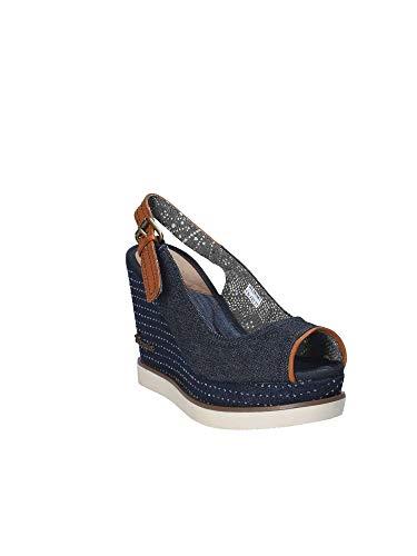 Sandalo Donna Wrangler Wl181682 Blu Zeppa O5TxXqw