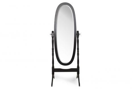 Crown Mark Cheval Mirror, Brown (Black - Brown Black Mirror