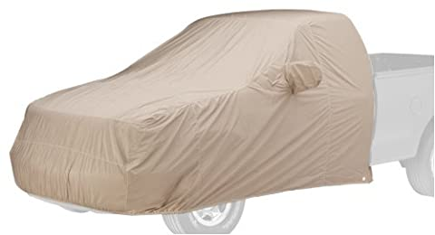 Covercraft Custom Fit Car Cover for Jeep Wrangler (Dustop Fabric, Taupe) - Covercraft Universal Cab Cover