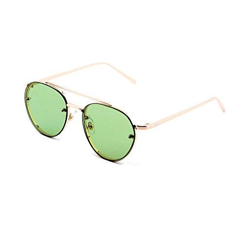 aviador AMIS de TWIG sol gradiente Gafas Verde Bronce mujer hombre AZpPOI