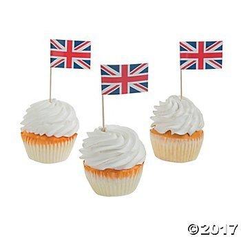 union jack cupcake - 1