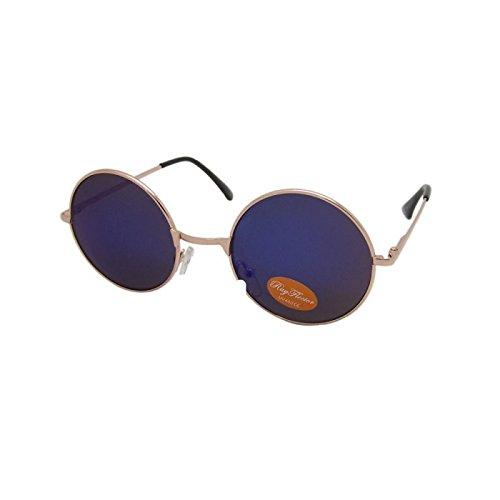 long rondes Ponton Lennon John unisexe bleu hippie Lunettes teintées soleil 400UV lunettes de nqwPfIxTpv