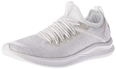 PUMA Women's Ignite Flash Evoknit Ep Women Shoes, Beige White-Gray Violet, 6 US