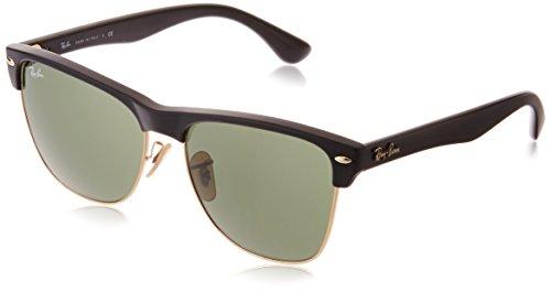Ray-Ban CLUBMASTER OVERSIZED - DEMI SHINY BLACK/ARISTA Frame CRYSTAL GREEN Lenses 57mm Non-Polarized
