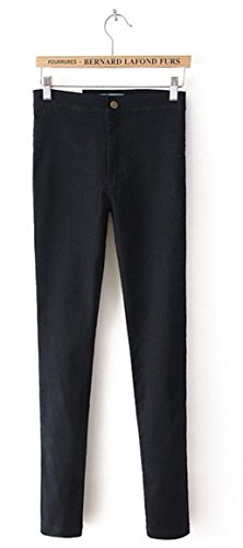 - CARMELA HILL WILLIAMS High Waist Jeans Woman Blue Denim Pencil Pants Stretch Waist Women Jeans Black Pants Calca Feminina