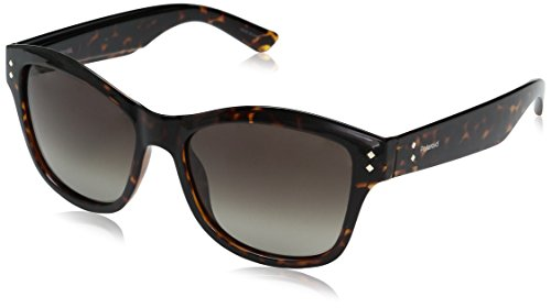 Polaroid Sunglasses Women's Pld4034s Wayfarer, Dark Havana/Brown Polarized DS, 54 - Sunglasses 4034