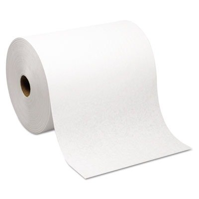 Hardwound Roll Paper Towel, Nonperforated, 7.87 x 1000 ft, White Nonperforated Hardwound Roll Towels