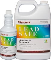 Lead Safe Cleaner - 1 Quart (946 mL) - Lead Remover & Cleaner by Fiberlock - Lead Paint Dust