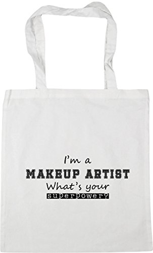 42cm Shopping Superpower HippoWarehouse White Artist 10 Makeup litres Gym x38cm I'm Beach Tote What's Your Bag a RRYUqx7