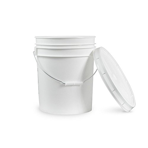 Food Grade 3.5 Gallon Bucket - 3 Pack With Lids - Es Plastic Handle