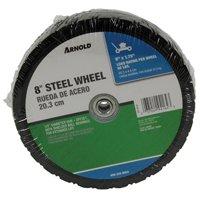 Arnold Ball Bearing Steel Wheel Diamond Tread 8'' X 1.75'' 60 Lbs. Max. Load Bulk