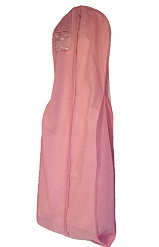 Soft Rose Breathable Wedding Bridal long gown Travel Storage Garment Bag 24''x72''x10'' by CESDes