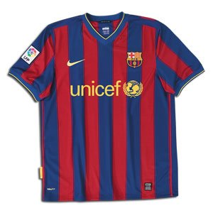 6b676072b Amazon.com   Nike Barcelona 09 10 Home Soccer Jersey   Athletic ...