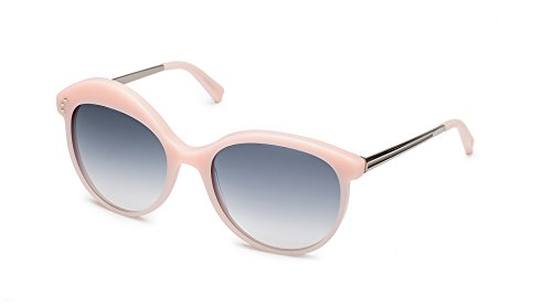 SHAUNS California Tacit Asymmetrical Sunglasses Pale Pink/Blue Gray Gradient Lens - Gray Blue Gradient