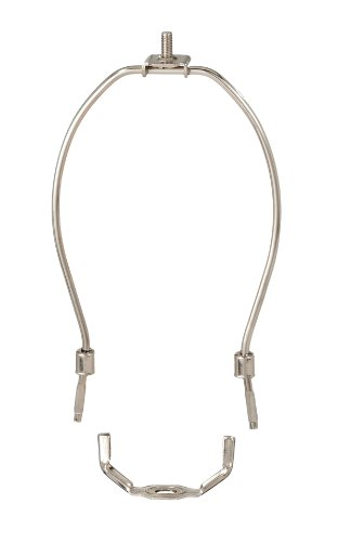 "B&P Lamp 7"" Harp, Regular Weight, Nickel Finish"