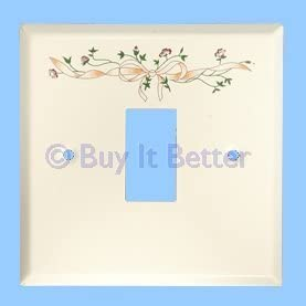 Light Switch Decorative Cover Plate Single Eternal Beau Bow White
