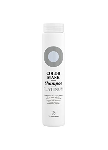 - Color Mask Platinum Silver Shampoo - Toning Shampoo for Platinum Blonde, Gray, and Silver Hair - Removes Brassiness - Sulfate Free & Vegan - 8.5 oz