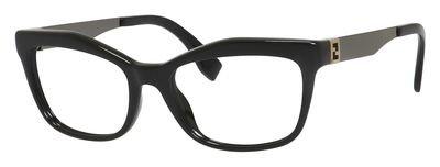 Fendi FD 0050 Eyeglasses 0KKL Black - Mens Eyeglasses Fendi