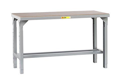 Little Giant WSH1-3048-AH Welded Steel Workbench, Hardboard over Steel Top, Open Base5000 lb. Load Capacity, 27