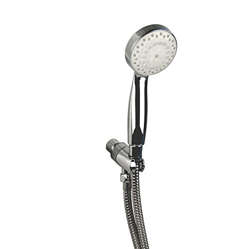 Glacier Bay 1-Spray 3 in. LED Showerhead in Chrome