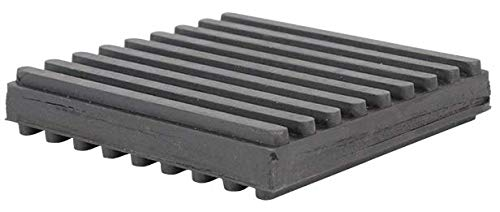 """Steel/Rubber Pads, 3"""" X 3"""" X 3/4"""", Pack of 4 Pads"""
