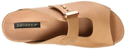Neosens S951 Restored Skin Wood Lairen, Sandalias con Plataforma Plana para Mujer Beige (Wood)