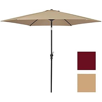 Best Choice Products 10 FT Steel Market Outdoor Patio Umbrella W/ Crank,  Tilt Push