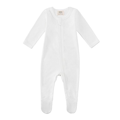 Large Product Image of Owlivia Organic Cotton Baby Boy Girl Zip Front Sleep 'N Play, Footed Sleeper, Long Sleeve (Size 0-18 Month)