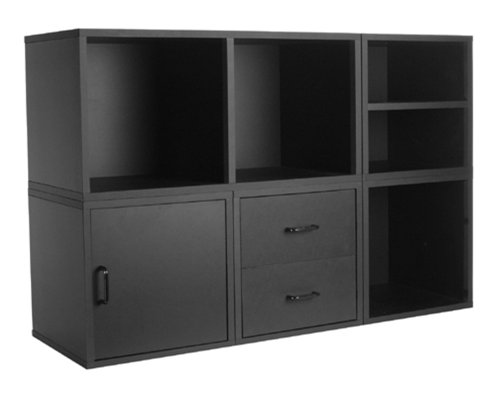 Foremost 340006 Modular 5-in-1 Shelf Cube Storage System, Black by Foremost
