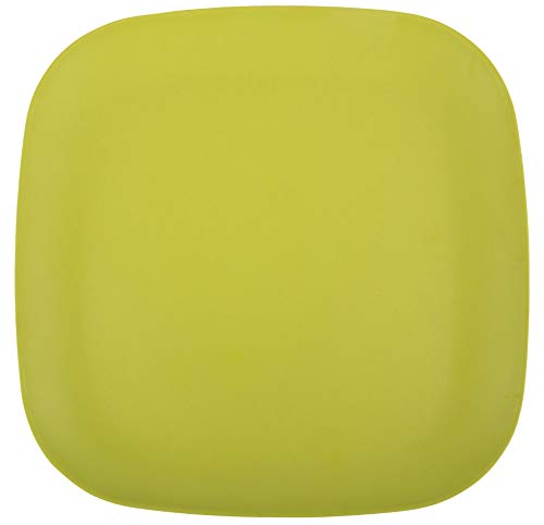 Melange 6-Piece Bamboo Dinner Plate Set (Squares Collection) | Shatter-Proof and Chip-Resistant Bamboo Dinner Plates | Color: Lime Green Color Collection Square Dinner Plate