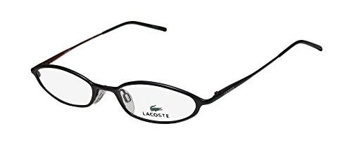 Lacoste 12203 Womens/Ladies Cat Eye Full-rim Eyeglasses/Spectacles (49-17-135, Matte (Lacoste Black Eyeglasses)