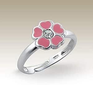 Points Ring Kids 14 mm gold pink pink dotted Children/'s jewelry girls ring children Girls adjustable adjustable