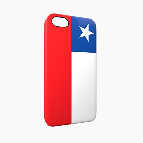Flag of Chile Glossy Hard Snap-On Protective iPhone 5 / 5S / SE Case Cover